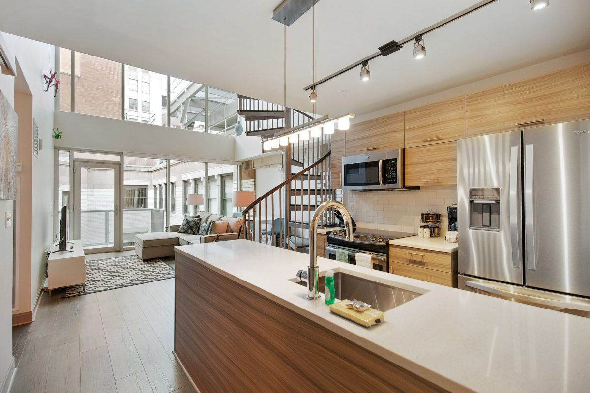 our 3 bedroom apartment with a loft in center city Philadelphia
